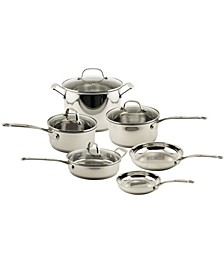 EarthChef Premium Stainless Steel Copper 10pc Cookware Set with Glass Lids