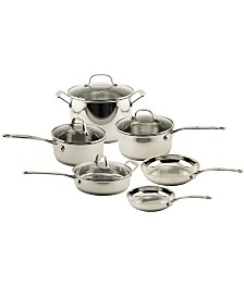 BergHoff EarthChef Premium Stainless Steel Copper 10pc Cookware Set with Glass Lids