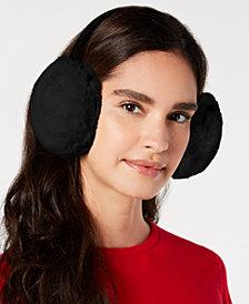 I.N.C. Velvet & Faux-Fur Earmuffs, Created for Macy's