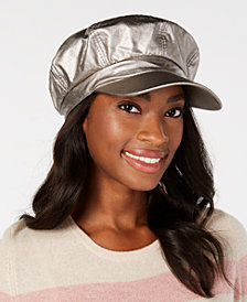 I.N.C. Faux-Leather Newsboy Cap, Created for Macy's