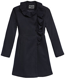 S. Rothschild Little Girls Ruffle-Trim Coat