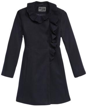 S Rothschild Little Girls RuffleTrim Coat