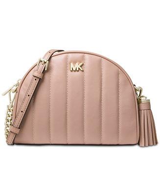 6b00c5967c0 Michael Kors Quilted Leather Half Moon Crossbody & Reviews - Handbags &  Accessories - Macy's