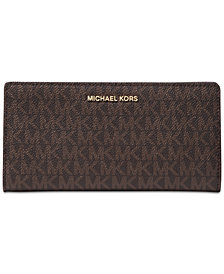 MICHAEL Michael Kors Metallic Signature Card Case