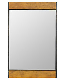 Marlon Rustic Wood Wall Mirror