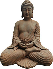 Stone Finish Sitting Buddha