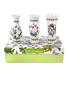 Vases, Set of 3 Botanic Garden Mini