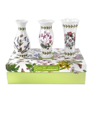 Portmeirion Vases Set of 3 Botanic Garden Mini