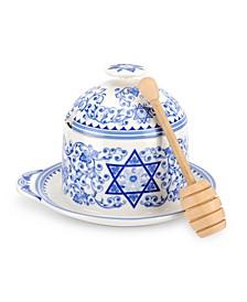 Judaica, Honey Pot with Dipper