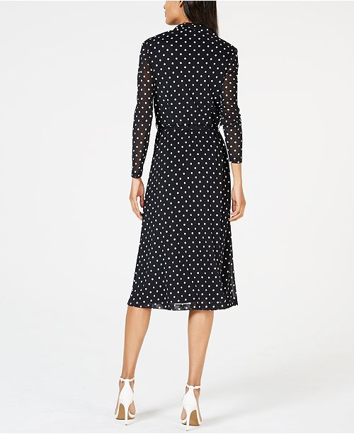 919ca210991 Anne Klein. Dot-Print Belted Shirtdress. Be the first to Write a Review.  main image; main image; main image ...