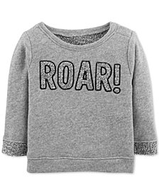 Carter's Baby Girls Roar-Print Sweatshirt