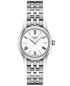 Tissot Women's Swiss T-Classic Tradition 5.5 Gray Stainless Steel Bracelet Watch 25mm