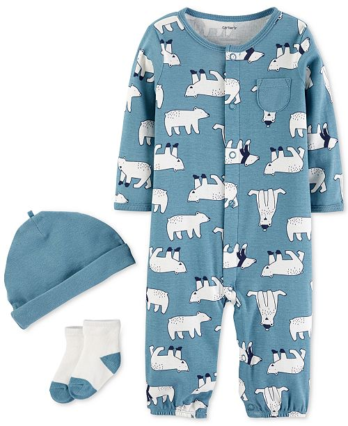 4ac094933 Carter s Baby Boys 3-Pc. Polar Bear Layette Set - Sets   Outfits ...