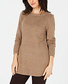 Karen Scott Long-Sleeve Tunic Sweater, Created for Macy's