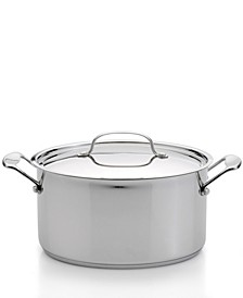 Premium 8-qt Stainless Steel Covered Stockpot