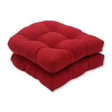 Pompeii Red Wicker Seat Cushion