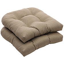 Monti Chino Wicker Seat Cushion, Set of 2