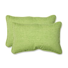 Baja Linen Lime Rectangular Throw Pillow, Set of 2