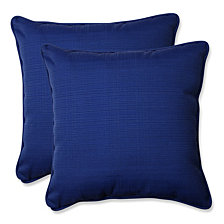 "Fresco Navy 18.5"" Throw Pillow, Set of 2"