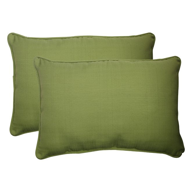 Pillow Perfect Forsyth Kiwi Over-sized Rectangular Throw Pillow, Set of 2