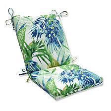 Soleil Blue/Green Squared Corners Chair Cushion