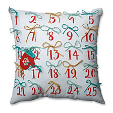 "Advent Pillow Red-Aqua 17.5"" Throw Pillow"