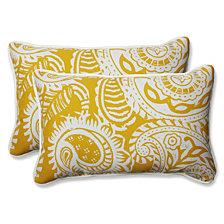 Addie Egg Yolk Rectangular Throw Pillow, Set of 2