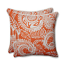 "Addie Terra Cotta 18.5"" Throw Pillow, Set of 2"