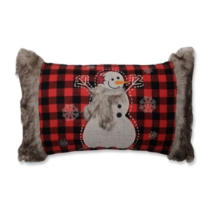 Fur Snowman Oblong Red/Black...