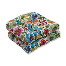 "Gregoire Floral 19"" x 19"" Outdoor Chair Pad Seat Cushions Set of 2"