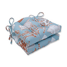 Cape Cod Reef Reversible Chair Pad, Set of 2