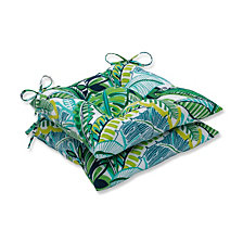 Aruba Jungle Green Wrought Iron Seat Cushion, Set of 2