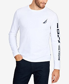 Nautica Men's Long-Sleeve Logo Graphic T-Shirt
