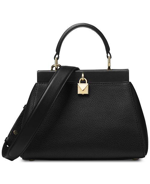 Michael Kors Gramercy Polished Leather Top Handle Satchel - Handbags ... c84febc5f2
