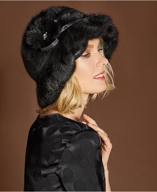 ecc925a1edf42 The Fur Vault Rosette Mink Hat. Macy s   Handbags   Accessories   Hats