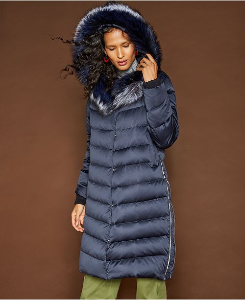 The Fur Vault Hooded Fox-Trim Puffer Coat