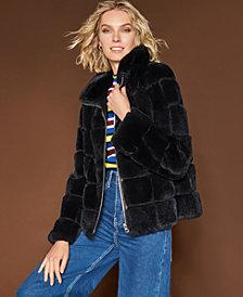 The Fur Vault Rabbit Fur Jacket