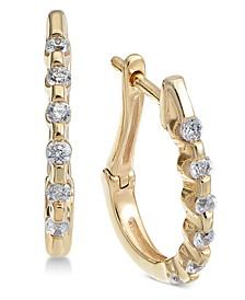 Diamond Hoop Earrings (1/4 ct. t.w.)
