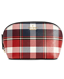 kate spade new york Cameron Street Rustic Plaid Abalene Cosmetic Case
