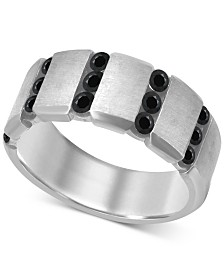 Men's Black Diamond (1 ct. t.w.) Ring in Sterling Silver