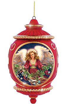 Precious Moments Angel With Garland Ornament