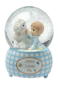 Jesus Loves Me Snow Globe, Boy