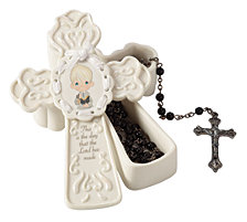 This Is The Day The Lord Has Made Communion Box With Rosary, Boy
