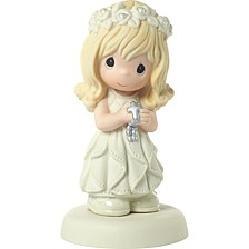 May His Light Shine In Your Heart Girl First Communion Figurine