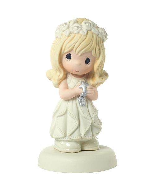 Precious Moments May His Light Shine In Your Heart Girl First Communion Figurine