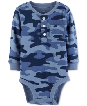 Carters Baby Boys CamoPrint Cotton Henley Bodysuit