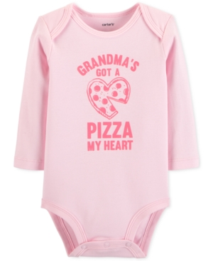 Carters Baby Girls Pizza My Heart Cotton Bodysuit