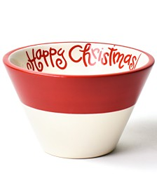 Coton Colors Happy Christmas Collection White Colorblock Mod Appetizer Bowl