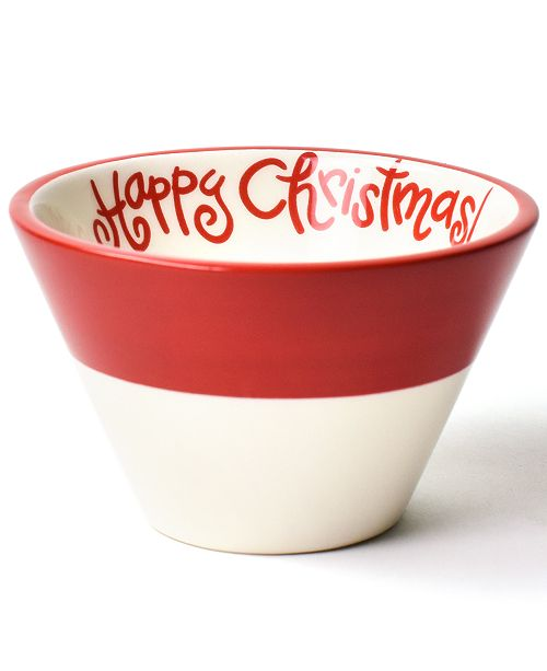 Coton Colors Happy Everything  by Laura Johnson Collection White Colorblock Mod Appetizer Bowl