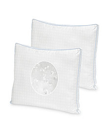 SensorGel Cool Fusion Medium Density Pillow 2 Pack With Cooling Gel Beads